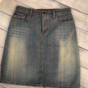 Vintage Ralph Lauren Denim Knee Skirt